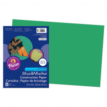 PAC8007 - Sunworks 12X18 Holiday Green 50Ct Construction Paper in Construction Paper