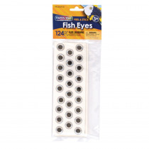 Fish Eyes, Holographic, Assorted Sizes, 124 Pieces - PACAC343902 | Dixon Ticonderoga Co - Pacon | Wiggle Eyes