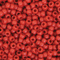 Pony Beads, Red, 6 mm x 9 mm, 1000 Pieces - PACAC355206 | Dixon Ticonderoga Co - Pacon | Beads