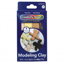 Modeling Clay, 4 Multi-Cultural Assortment, 1 lb/4 Sticks - PACAC409701 | Dixon Ticonderoga Co - Pacon | Clay & Clay Tools