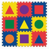 PACAC4354 - Wonderfoam Carpet Tiles Shapes in Crepe Rubber/foam Puzzles