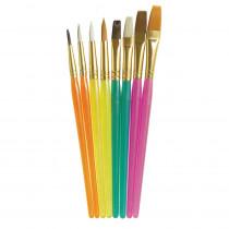 Acrylic Paint Brush Assortment, Assorted Colors & Sizes, 8 Brushes - PACAC5133 | Dixon Ticonderoga Co - Pacon | Paint Brushes