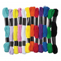 PACAC6475 - Embroidery Thread 12 Assrtd Colors in Yarn