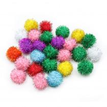 PACAC81533 - 33Mm Glitter Poms Assortment 40 Pcs in Craft Puffs