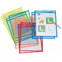 PACAC9869 - Dry Erase Pockets 10 Asst Colors St in Organizer Pockets