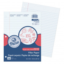 PACMMK09250 - Pacon Filler Paper Wide Rule 3/8In Ruling in Loose Leaf Paper