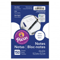 PACMMK09532 - White Note Pads 4X6 150 Ct in Note Books & Pads