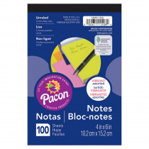 PACMMK11508 - Neon 4X6 Note Pad 100Ct in Note Books & Pads