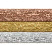 Extra Fine Crepe Paper, Metallic Assortment, 10.7 sq. ft - PACPLG11004 | Dixon Ticonderoga Co - Pacon | Tissue Paper