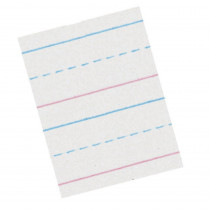 PACZP2411 - Zaner Bloser 5/8In Ruled Sulphite Paper Gr 1 in Handwriting Paper