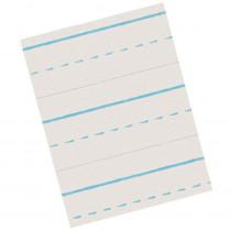 PACZP2612 - Zaner-Bloser Broken Midline Papers 1/2 X 1/4 Long in Handwriting Paper