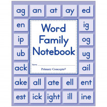 PC-3901 - Word Family Notebook Set Of 20 in Word Skills
