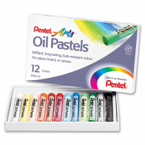 PENPHN12 - Pentel Oil Pastels 12 Ct in Pastels