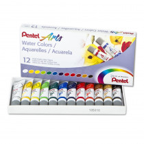 PENWFRS12 - 12 Color Pentel Arts Watercolor Set in Paint