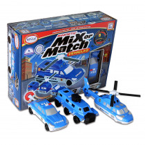 PPY60316 - Magnetic Vehicles Police Mix Or Match in Vehicles