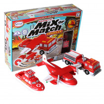 PPY60317 - Magnetic Vehicles Fire & Rescue Mix Or Match in Vehicles