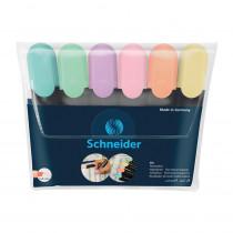 Job Highlighters, Chisel Tip, Pastel, Pack of 6 - PSY115097 | Rediform Inc | Highlighters