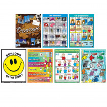 PSZPS57 - Essential Clss Posters Set 2 French in Multilingual