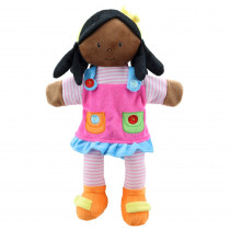 Story Telling Puppets, Girl (Dark Skin Tone) - PUC001905 | The Puppet Company | Puppets & Puppet Theaters