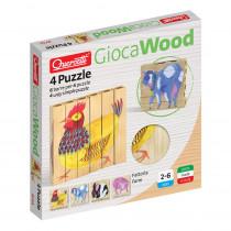 4 Puzzle Farm - QRC0711 | Quercetti Usa Llc | Wooden Puzzles