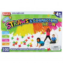 R-60705 - Straws & Connectors 300 Pieces Neon Colors in Blocks & Construction Play