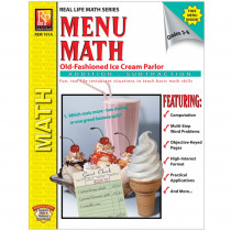 REM101A - Menu Math Ice Cream Parlor Book-1 Ream Parlor Book 1-Add & Subtract in Money