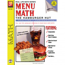 REM102A - Menu Math Hamburger Hut Book-1 Add & Subtract in Money