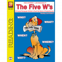 REM487B - The 5 Ws 3Rd Gr Reading Level in Comprehension