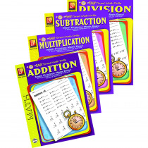 REM5012E - Easy Timed Math Drills 4 Book Set in Activity Books