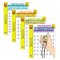 REM505 - Timed Math Drills 4-Set Books in Activity Books