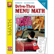 REM601B - Drive Thru Menu Math Add & Subtract Money in Money