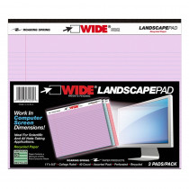 ROA74535 - Legal Pad Landscape Assorted 3 Pack Orchid Blue And Pink in Note Books & Pads