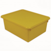 ROM16003 - Stowaway Yellow Letter Box With Lid 13 X 10-1/2 X 5 in Storage Containers