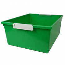 ROM53605 - 12Qt Green Tattle Tray W Label Hold in General