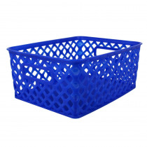 ROM74004 - Small Blue Woven Basket in General