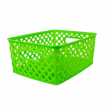 ROM74015 - Small Lime Woven Basket in General