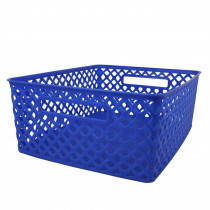 ROM74104 - Medium Blue Woven Basket in General