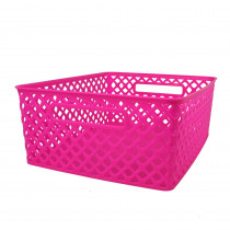 ROM74107 - Medium Hot Pink Woven Basket in General