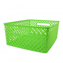 ROM74115 - Medium Lime Woven Basket in General