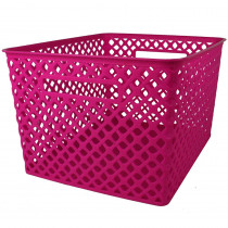 ROM74207 - Large Hot Pink Woven Basket in General