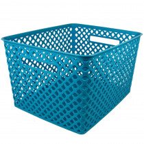 ROM74208 - Large Turquoise Woven Basket in General