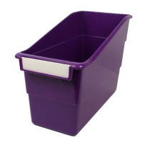 ROM77206 - Purple Shelf File With Label Holder Standard in General
