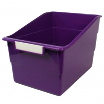 ROM77306 - Wide Purple File With Label Holder in General