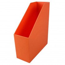 ROM77709 - Magazine File Orange 9.5X3.5X11.5 in Storage