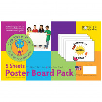 ROS04502 - White Poster Board 11X14 Pack Of 5 in Poster Board
