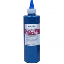 Washable Glitter Glue, 8 oz., Blue - RPC146030 | Rock Paint / Handy Art | Glitter