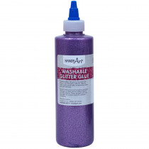 Washable Glitter Glue, 8 oz., Violet - RPC146040 | Rock Paint / Handy Art | Glitter
