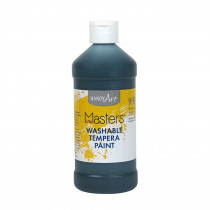 RPC211755 - Little Masters Black 16Oz Washable Paint in Paint