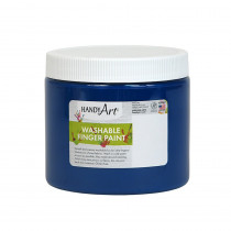 RPC241030 - Handy Art Blue 16Oz Washable Finger Paint in Paint