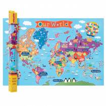 RWPKM01 - World Map For Kids in Maps & Map Skills